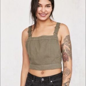 BDG jessey cross-back cropped top